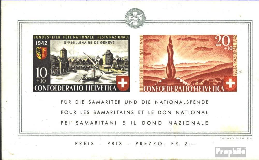 Suisse Bloc 7 (complète.Edition.) 1942 Pro Patria (Timbres pour Les collectionneurs)