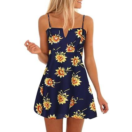 LILICAT Vestido de Playa de Verano para Mujer, 2018 Vestido Mini ...