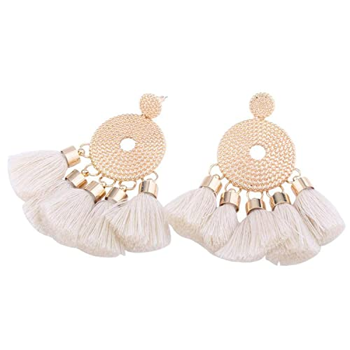 58927e0f7 Image Unavailable. Image not available for. Color: Fashion Casual Shining  Long Tassel Clear Crystal Women Hanging Earrings ...