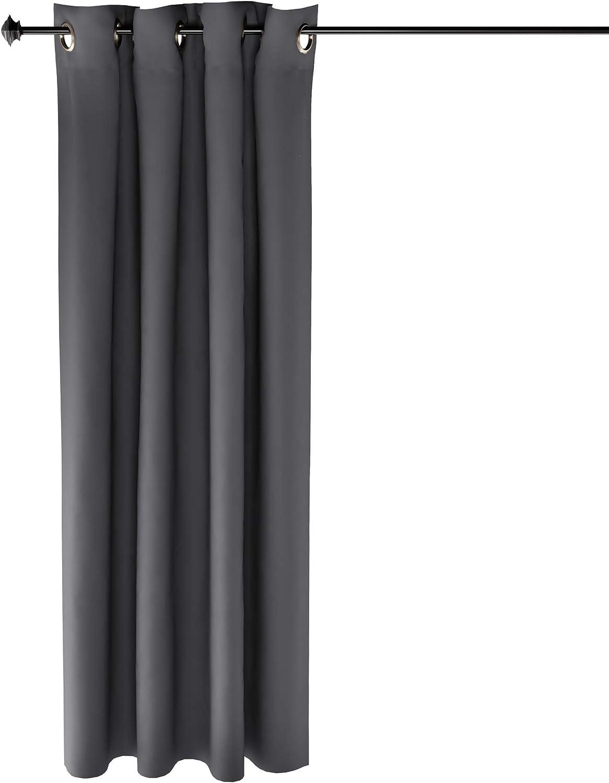 Furinno Collins Curtain 52x63 inches Dark Grey