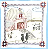 Jack Dempsey Stamped White Wall/Lap Quilt, 36-Inch by 36-Inch, Barn