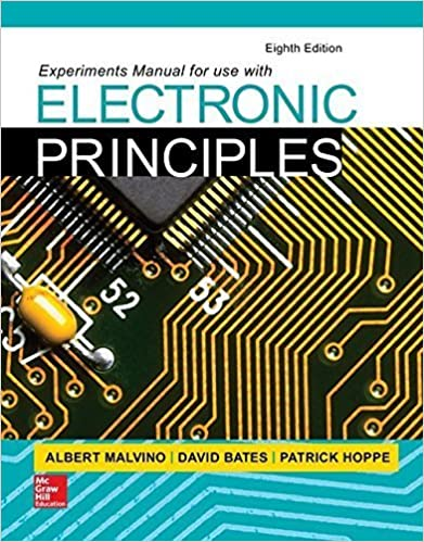 Book Experiments Manual for use with Electronic Principles by Albert Malvino (2015-01-19)