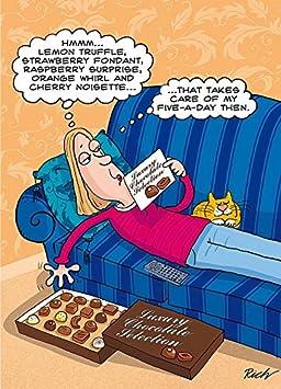 5 A Jour Chocolat Diet Humour Carte De Vœux Joyeux Anniversaire