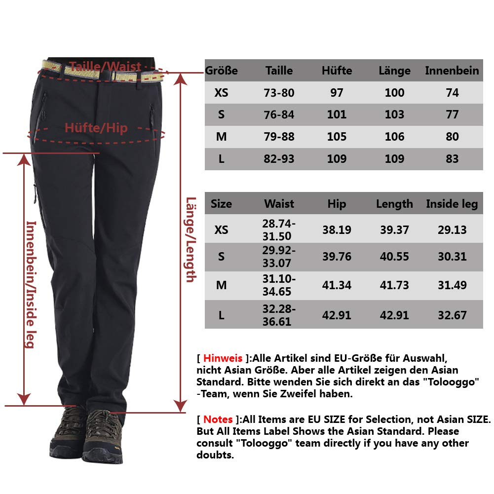 Softshell Trousers Womens Winter Fleece Lined Trousers Waterproof Hiking Pants Outdoor Camping Trouser