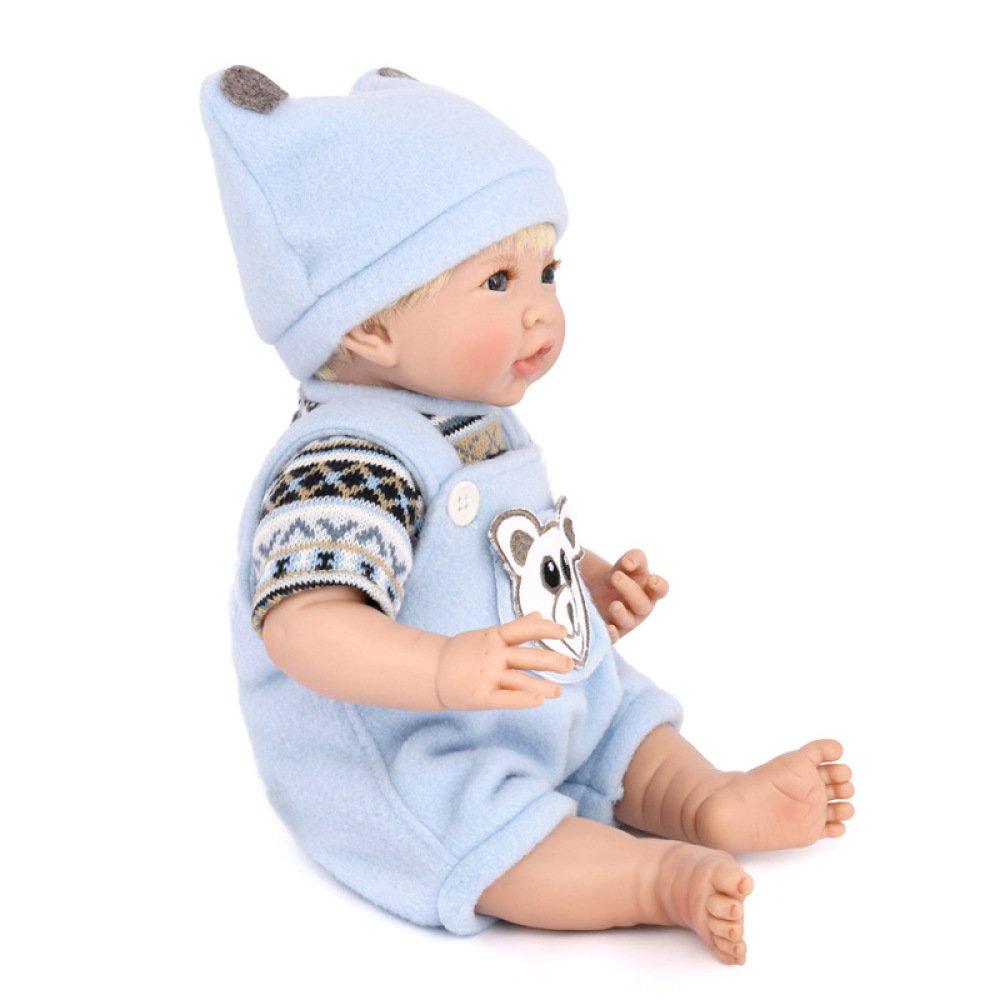 LZTET Muñecas Reborn Baby Hecho A Mano Realista De Silicona Realista Vinilo Simulación Suave 13.8 Pulgadas 35 Cm Ojos Abiertos Niños Regalo Favorito