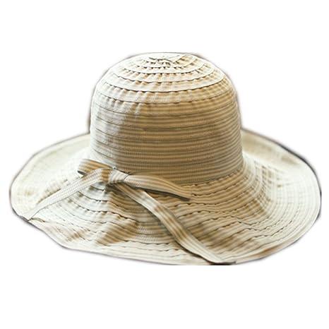 6efda98791a6 Hosaire 1x Sombreros del Sol para Mujer Rayas Gorra de Tela Gorras ...