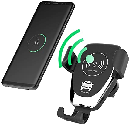 Amazon.com: QI - Cargador inalámbrico para coche con soporte ...