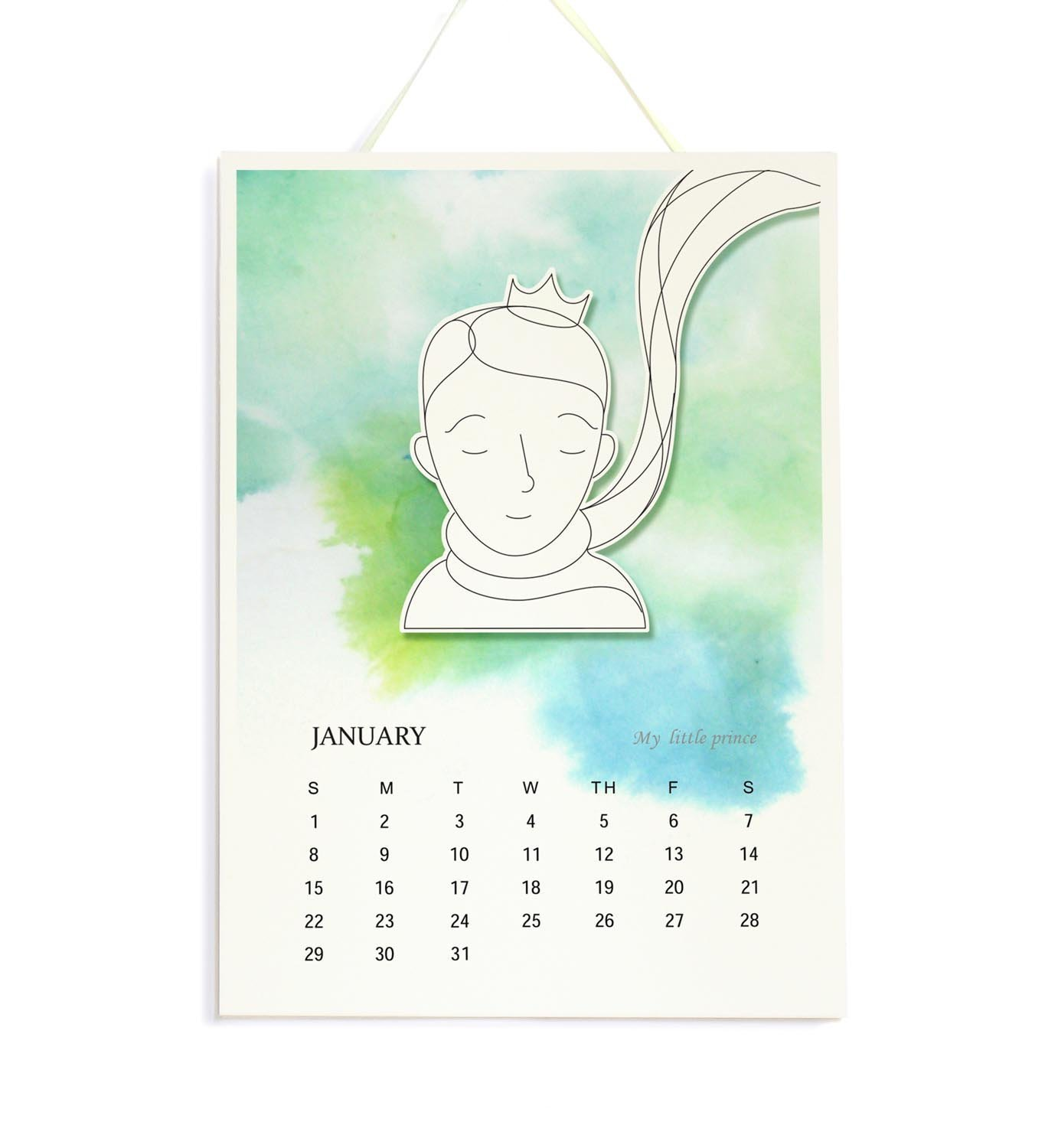 Little Prince - 2018 Wall Calendar, A4 Watercolor Calendar, Children Room Decor, New Year Gift for Le Petit Prince Fans, Kids, and Grow-up