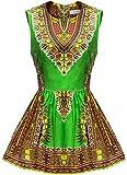 Shenbolen Women African Print Shirt Dashiki Traditional Top(B,X-Large)