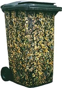 Leisure Traders - Vinilo decorativo para cubo de basura (diseño de camuflaje)