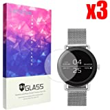 Lamshaw Skagen Falster 保護フィルム, 9H ガラスフィルム カバー 対応 SKAGEN 腕時計 FALSTER タッチスクリーンスマートウォッチ (3枚)