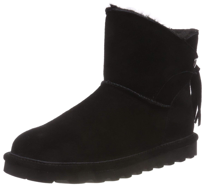 40422a988c310 BEARPAW Women's Morgan Boots, Black Suede, Rubber, Wool, 11 M