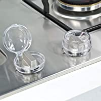 6Pcs Clear Stove Knob Safety Covers Child Safety