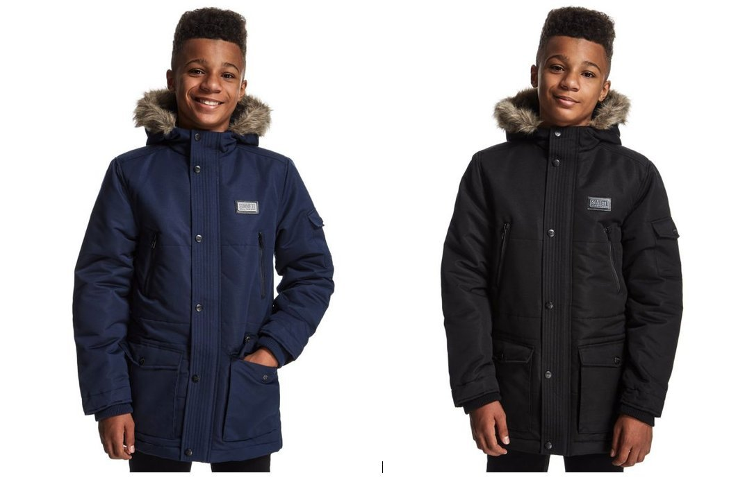 b852b9db59f8 Sonneti Junior School Boys Navy Black vade Shower Resistant Jacket ...