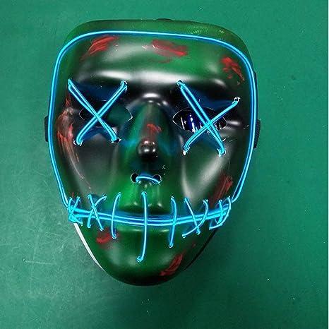 Row_120cc Máscara de luz fría Azul EL Verde Inferior máscara ...