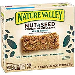 Nature Valley Nut & Seed Crunchy Bar Pouches,Vanilla Almond,7.45 oz ( 4 PACK)