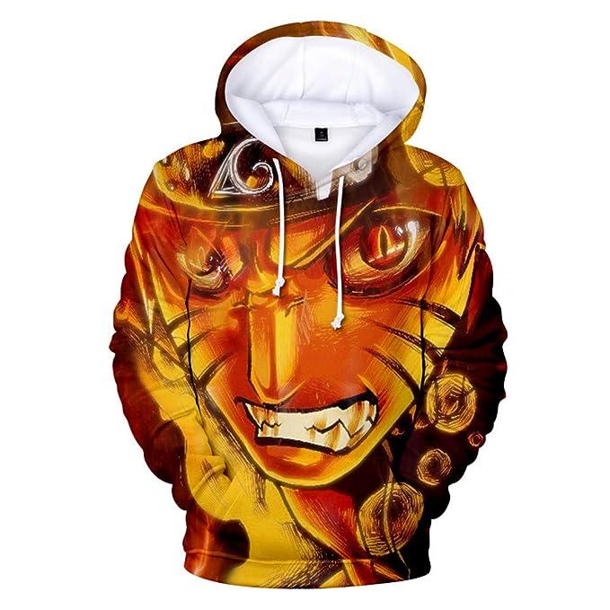 Naruto Sudadera con Capucha Unisex 3D Manga, diseño de Anime, Cosplay, Pullover Sudaderas: Amazon.es: Ropa y accesorios