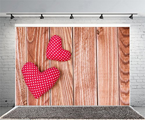 Leyiyi 6x4ft Photography Backgroud Wedding Ceremony Backdrop Happy Valentine's Day Rustic Wooden Board Heart Shape Western Party Engagement Bridal Shower Cake Table Photo Portrait Vinyl Studio Prop