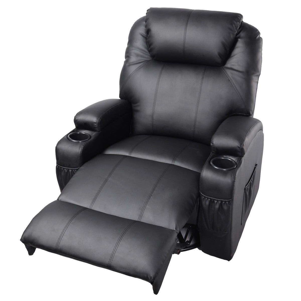 Amazon.com GHP Black Sturdy Ergonomic Seating Massage Recliner Sofa Chair Lounge Heated w Control Kitchen u0026 Dining  sc 1 st  Amazon.com : dual control recliner chairs - islam-shia.org