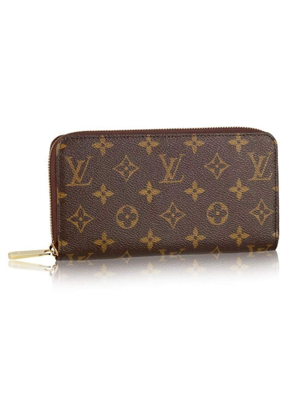 DMYTROVITCHUK Zippy Style Monogram Canvas Wallet With Beige Lining for Woman and Man By Dmytro Vitchuk