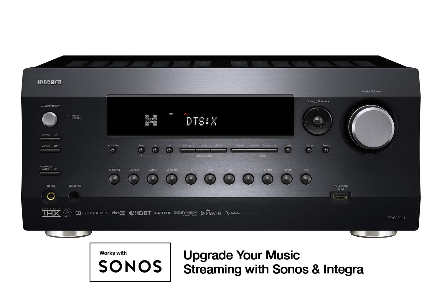 Integra DRC-R1.1 Research Series 11.2 Ch. Dolby Atmos & DTS:X Network A/V Preamp