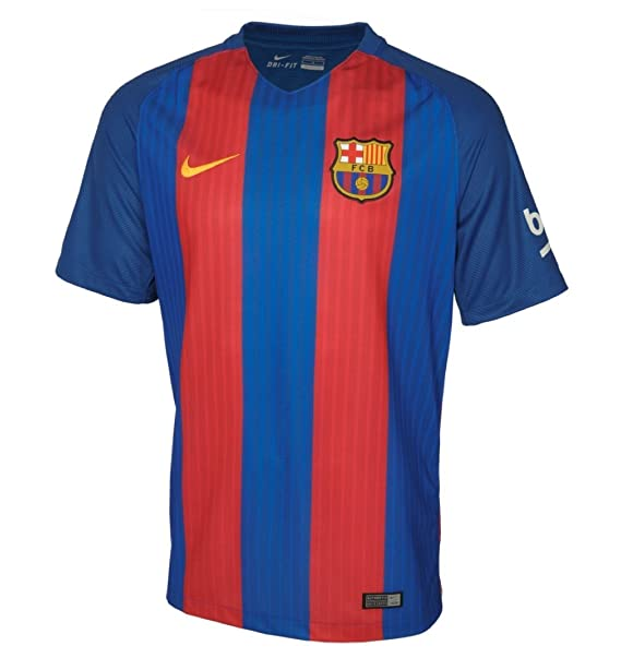 840634fbc Amazon.com : NIKE Kids Barcelona 2016/2017 Home Soccer Jersey (Blue, Red)  Youth Large : Clothing