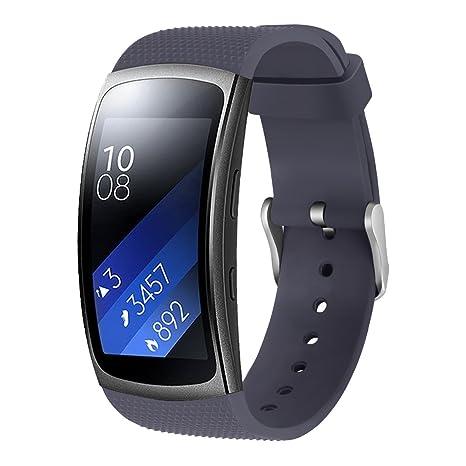 Aresh para Samsung Gear Fit 2 Accesorio reemplazo de banda de reloj pulsera silicona, suave