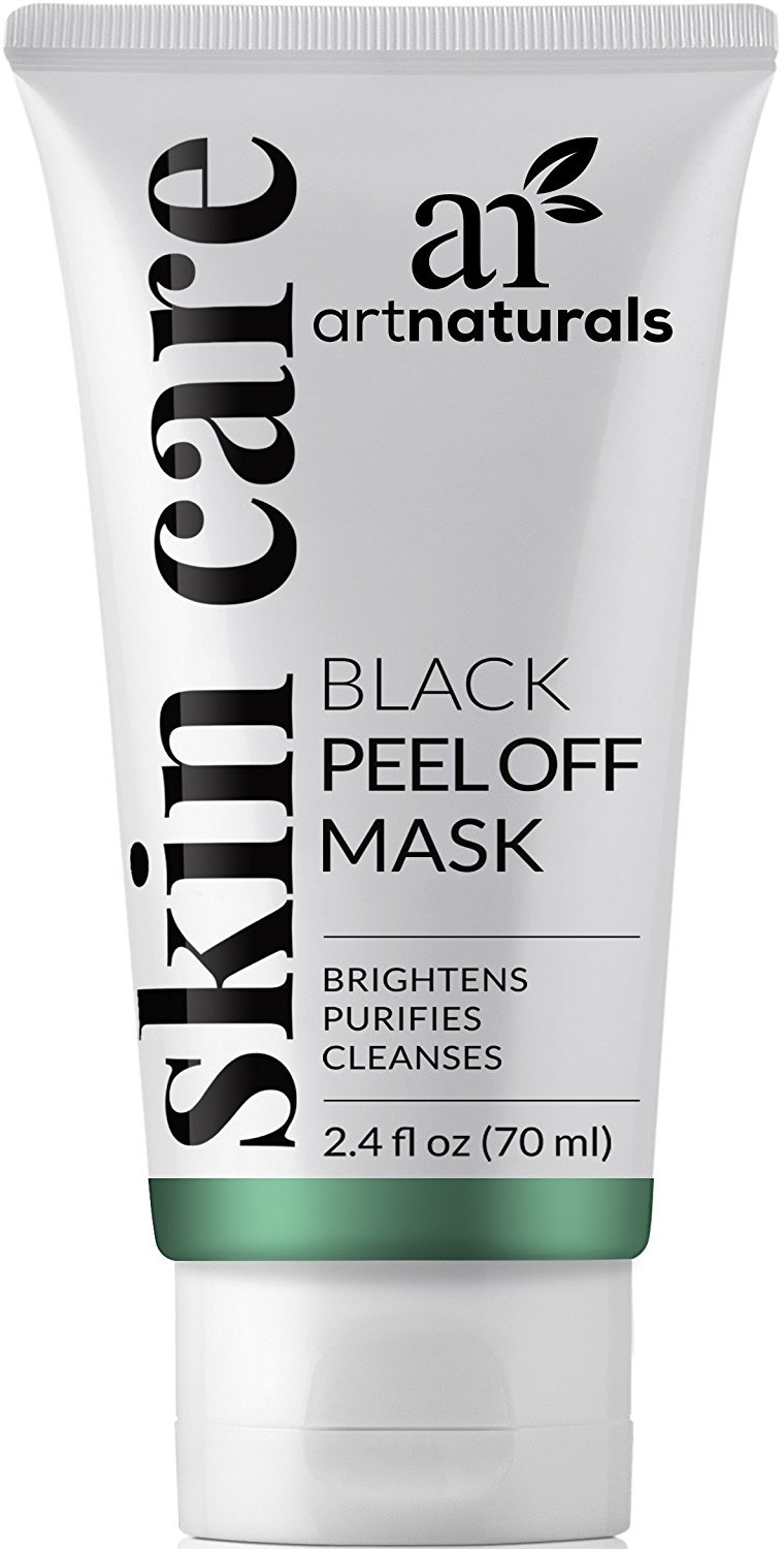 Black Peel Off Face Mask (2.4oz) - Natural Deep Cleanser Blackhead Remover Neutrogena Rapid Clear Acne Defense Face Lotion 1.70 oz (Pack of 6)