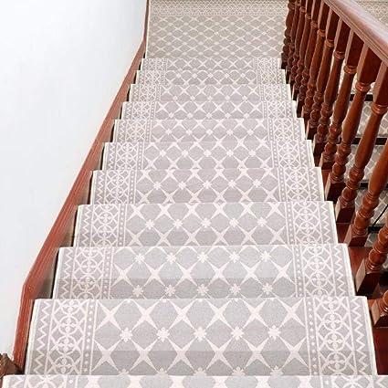 XOCKYE Alfombra Antideslizante Adhesiva de Escalera de Escalera Paso Alfombra Cubierta de Protección para de la Escalera Interior@Blanco_Los 30 × 85cm: Amazon.es: Hogar