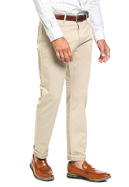 af680619c9 Dockers- Pantalón Athletic Fit Beige Pantalones para Hombre Beige Talla  36x32
