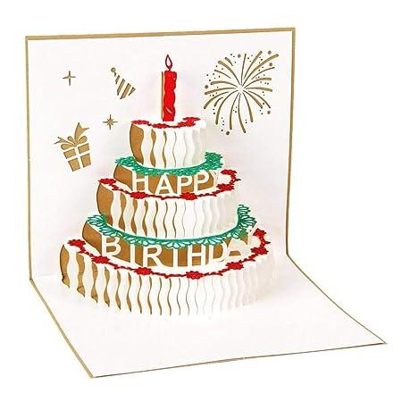 SGHV 10Pcs Feliz cumpleaños Postal Tarjetas de felicitación ...