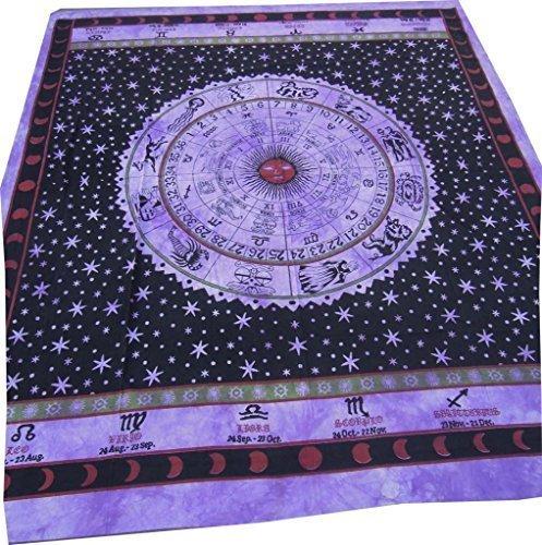Handicrunch Horroscope Zodiac Sign Celestial Indian Tapestry