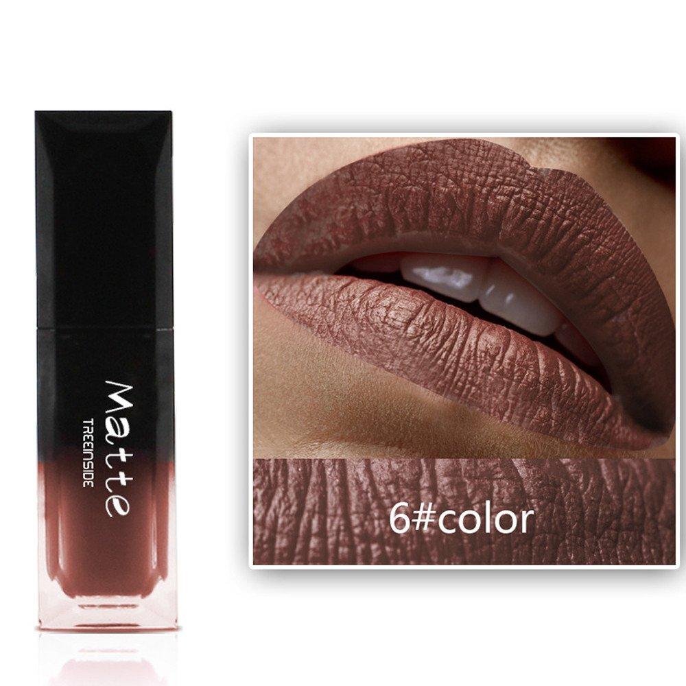 Baomabao Lipstick Cosmetics Women Sexy Lips Matte Lasting Lip Gloss Waterproof Fashion Party (F)