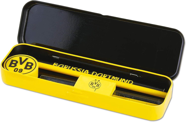 Borussia Dortmund BVB Schreibset mit Metallbox