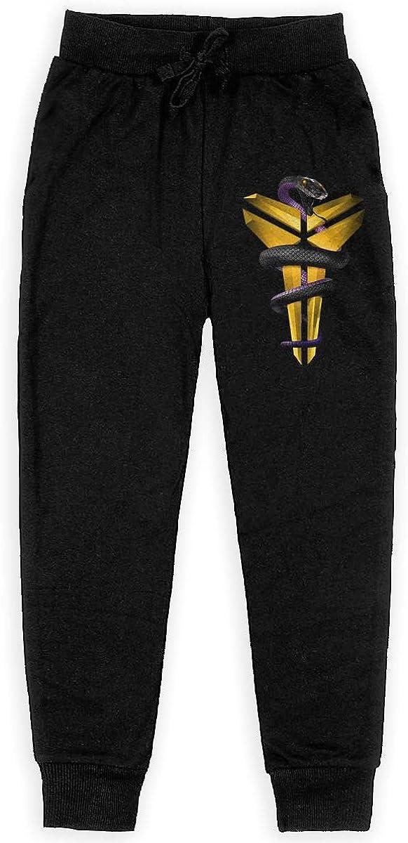 NOT Kobe-Bryant Logo Mens Youth Long Sweatpants Sports Pants Teenage Trousers High Waist for Boys Girls Black