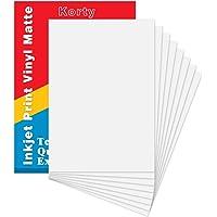 "Printable Vinyl for Inkjet Printer, 20 Sheets Premium Matte White Waterproof Printable Vinyl Paper,8.3""x 11.7"""