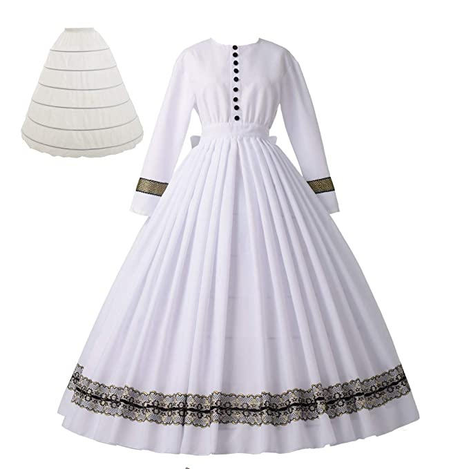 Victorian Dresses | Victorian Ballgowns | Victorian Clothing Women Vintage 1860s Victorian Dress Long Sleeve with Petticoat Victorian Dresses for Women $85.99 AT vintagedancer.com