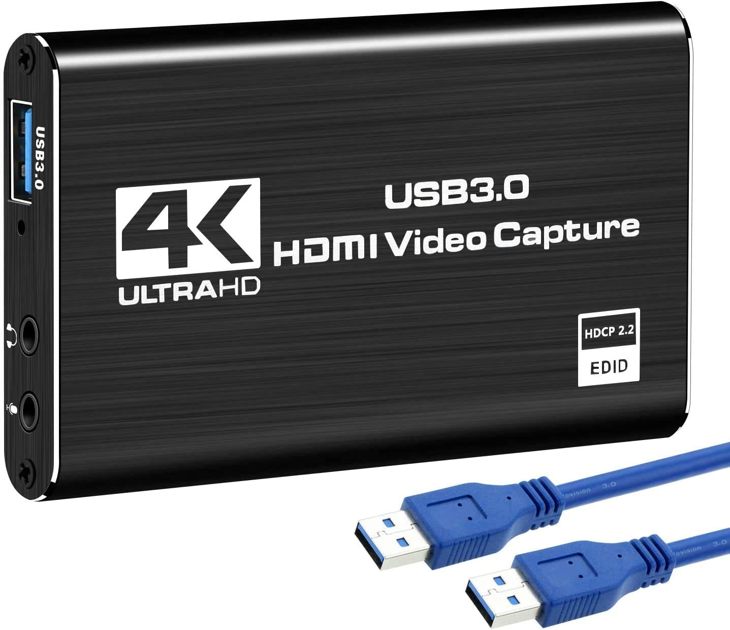 Rybozen 4K Audio Video Capture Card, USB 3.0 HDMI Video Capture Device, Full HD 1080P for Game Recording, Live Streaming Broadcasting