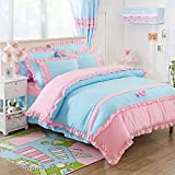 HlA bedding 4 Piece Bed Linens Skirt Style 4-Piece Set Is 4 Double Bed Linen Kit , Youth Dream ,1.8M (6 Ft) Bed