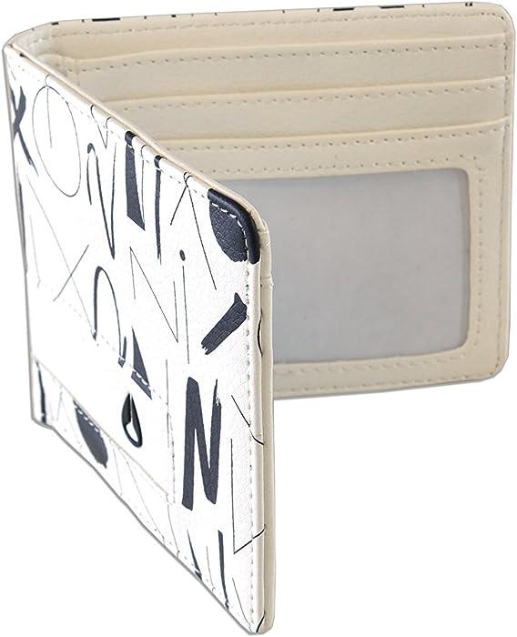 6e8d5fbe45eb Nixon Men s Classic Showdown Bifold Wallet Art Print Edition Logo Embossed  One Size White
