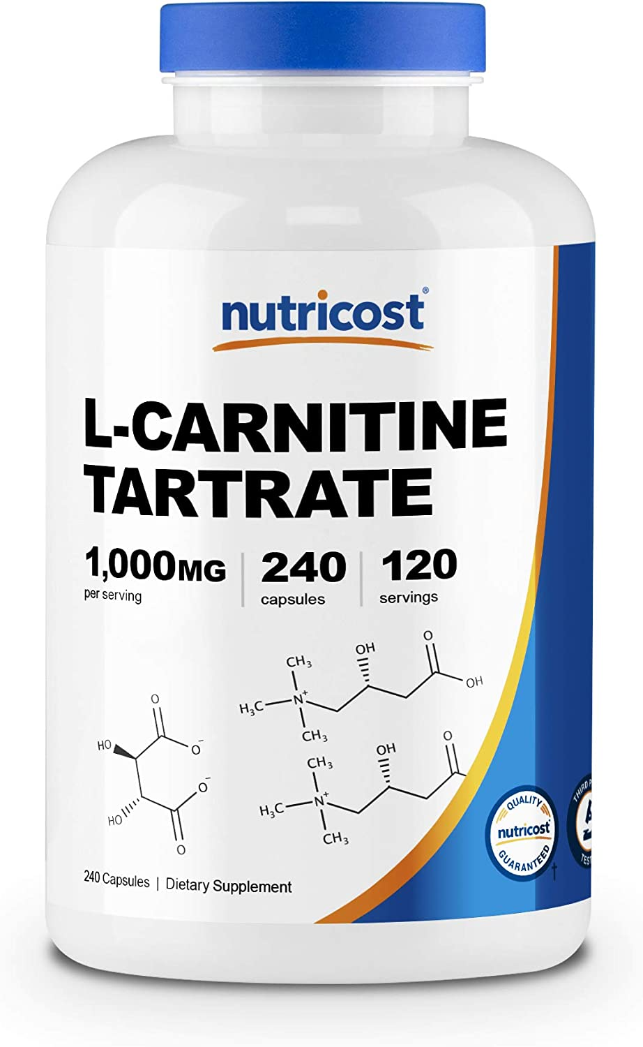 Nutricost L-Carnitine Tartrate 500mg, 240 Capsules - 1000mg Per Serving: Health & Personal Care
