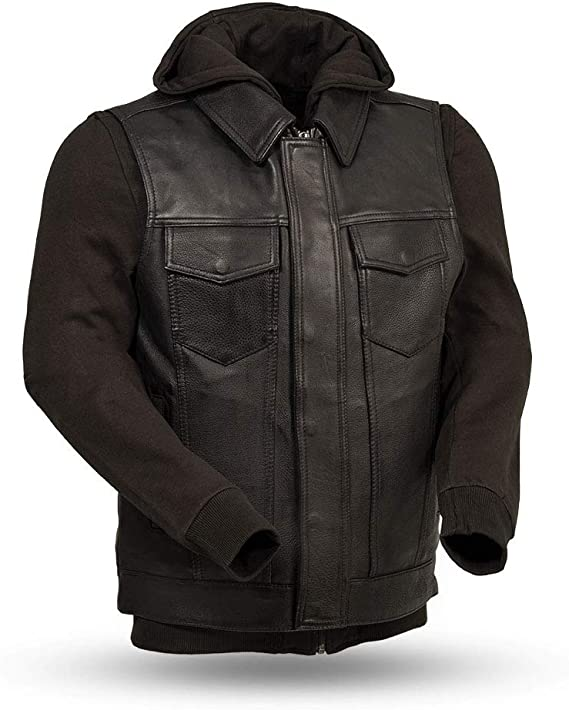 First Mfg Co Platinum Series Mens Leather Vest Black, Small
