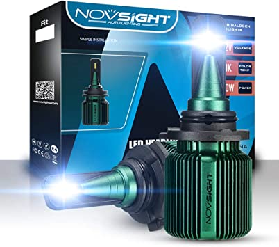 NOVSIGHT 10000LM 9005 HB3 LED Headlight Kit Fog light Bulbs 6500K Super Bright