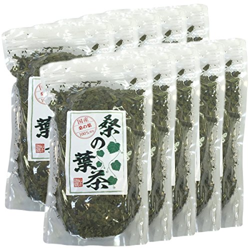 Japanese Tea Shop Yamaneen Leaf Of A Mulberry-Tea Without Agricultural Chemicals Non Caffeine 100G x 10packs by Japanese Tea Shop Yamaneen