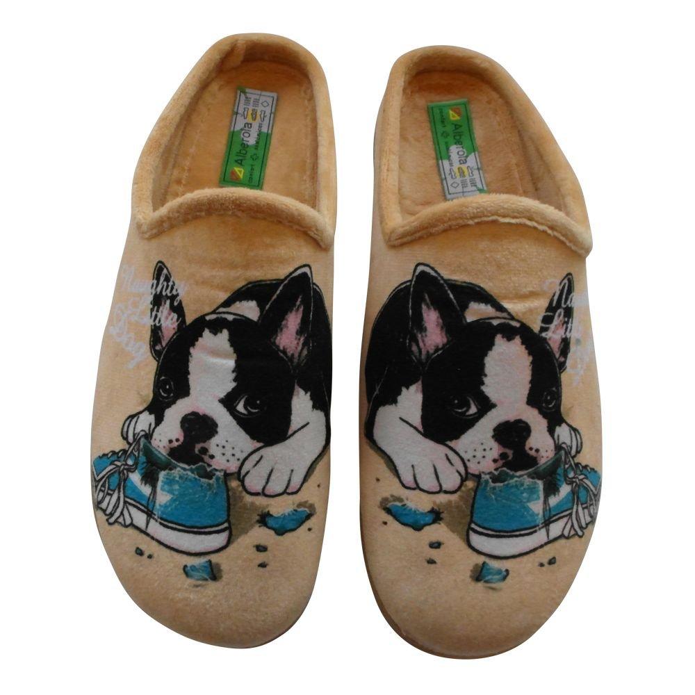 Alberola Hausschuh Pantoffel Hund Bulldogge A525 - Eu 35 - 42 (39) YRkPd3