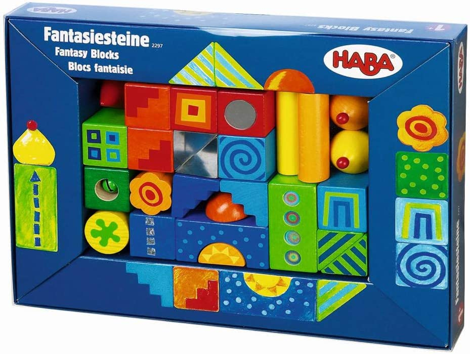 HABA Fantasy Blocks - 26 Piece Set for Ages 18 Months and Up (Made in Germany)