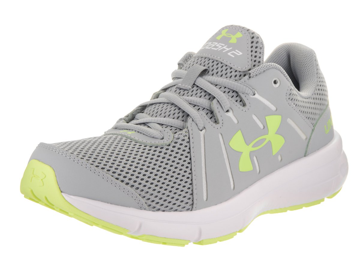 Under Armour Women's Dash 2 Running Shoe B01GPLGH7W 7 B(M) US|Overcast Gray/White/Lime Fizz