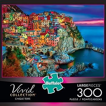 Buffalo Games - Vivid Collection - Cinque Terre - 300 Large Piece Jigsaw Puzzle 1