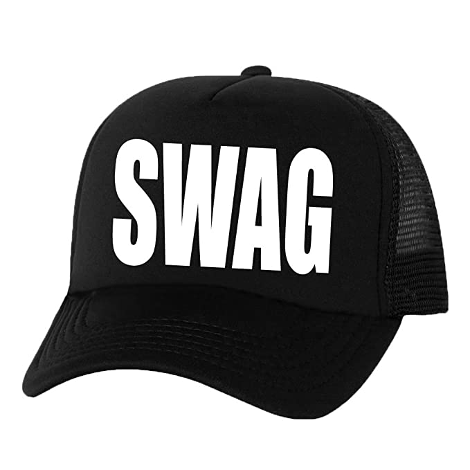 64cf7a2f626 SWAG Truckers Mesh snapback hat in Black - One Size at Amazon Men s ...