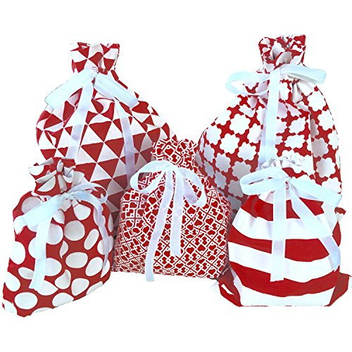 Reusable Fabric Gift Bags Presents product image